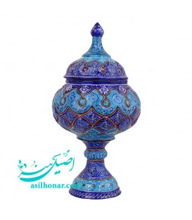 Minakari sugar bowl arabesque 18 cm professor Rafiee