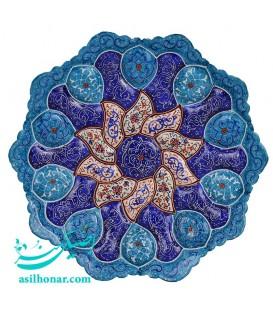 Minakari plate solar designe 16 cm arabesque khatai