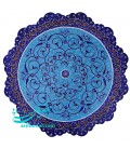 Minakari wall hanging plate 20 cm arabesque traditional