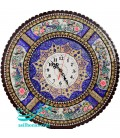 Khatamkari clock 42 cm flower and bird and arabesque khatai