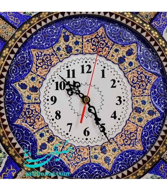 Khatamkari clock