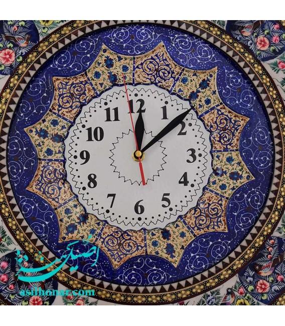 Khatamkari clock round