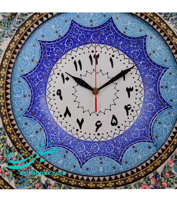 Khatamkari clock excellent