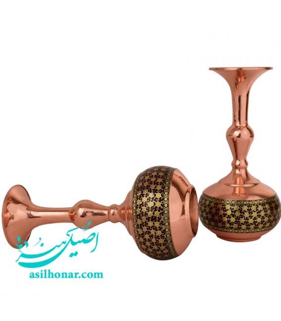 Isfahan khatamkari flower vase