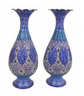 Minakari flower vase 25 cm arabesque khatai
