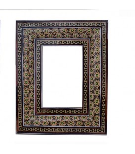 Khatamkari frame bony double flowers 13x9 cm
