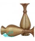 Khatamkari copper flower vase 20 cm