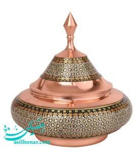 Isfahan khatamkari bony candy bowl size 5