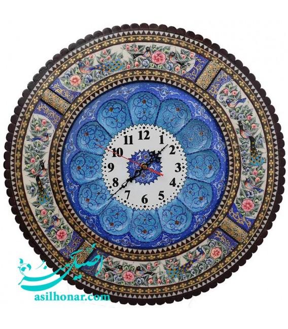 Khatamkari round clock