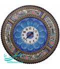 Khatamkari round clock 47 cm arabesque crescent