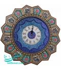 Isfahan khatamkari solar clock 47 cm arabesque and crescent