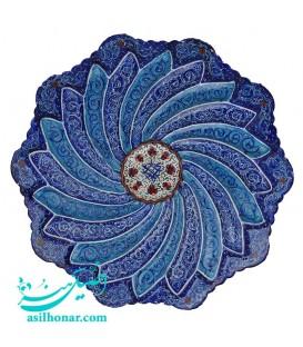 Minakari plate 16 cm arabesque khatai artiste Rafiee