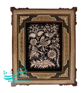 Ghalam-Zani wall hanging 54x64 cm excellent with khatamkari frame