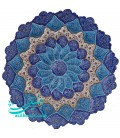 Minakari copper plate 30 cm artiste Rafiee arabesque khatai designe