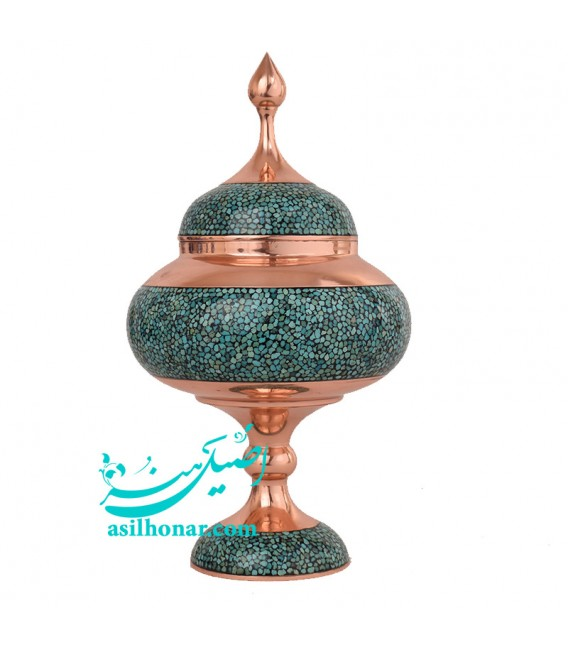 Turquoise inlaying candy bowl