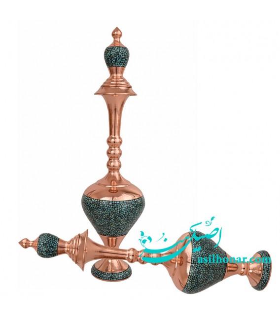 Turquoise inlaying sake jug