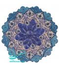 Minakari copper plate diameter 25 cm arabesque khatai