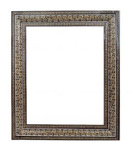 Khatamkari frame bony double flower 30x24 cm