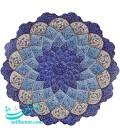 Minakari wall hanging plate 30 cm arabesque and flower