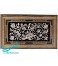 Ghalam-Zani wall hanging and khatam 30x60 cm flower and bird design