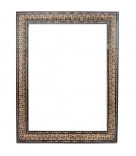 Khatamkari frame bony double flower 40x30 cm