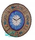 Khatamkari clock 48x42 cm peacock design