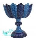 Minakari copper fruit bowl 30 cm arabesque