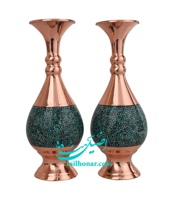 Turquoise inlaying flower vase