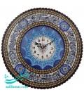 Khatamkari clock round 42 cm with mina plate crescent