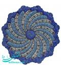 Minakari copper plate 25 cm arabesque khatai