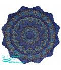 Isfahan minakari plate 25 cm arabesque khatai designe