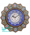 Khatamkari clock 42 cm solar with mina plate crescent