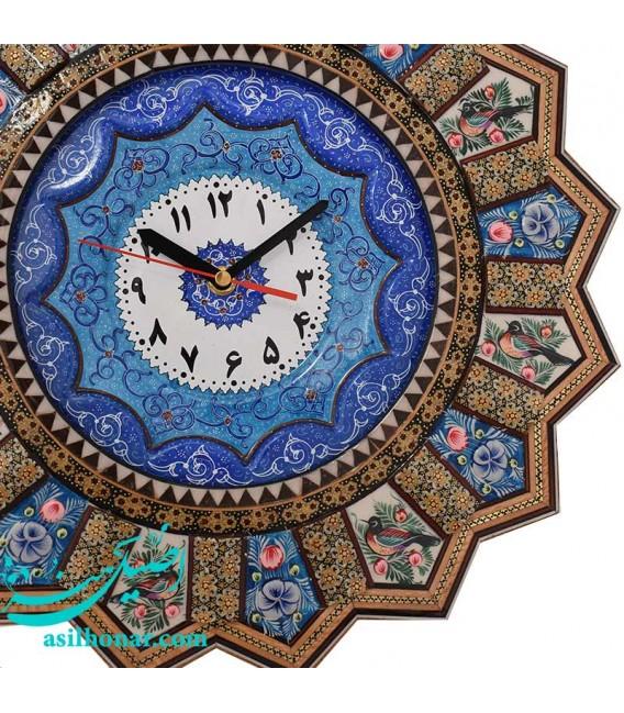 Khatamkari clock solar