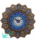 Khatamkari clock solar 37 cm with mina plate crescent