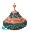 Turquoise inlaying sugar bowl size 3