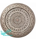 Ghalamzani round tray 40 cm designe diamond
