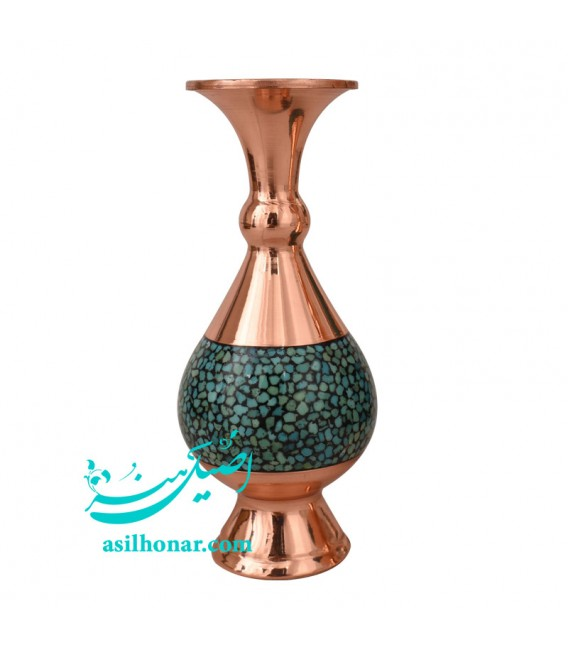 Turquoise inlaying baluster flower vase