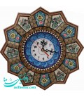 Khatamkari clock 32 cm flower and bird designe