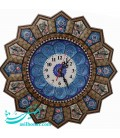 Khatamkari clock 37 cm solar flower and bird designe