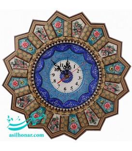 Khatamkari clock 37 cm with motor tic tac Taiwan