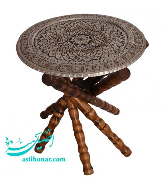 Ghalamzani copper round tray