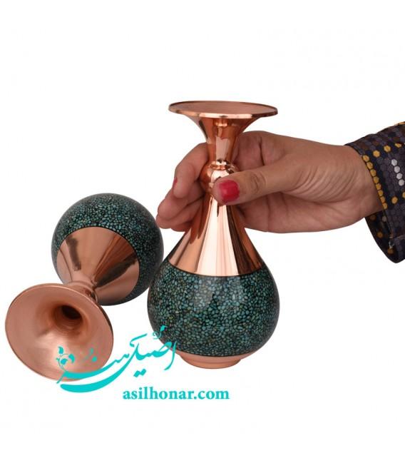 Turquoise inlaying turnip fancy flower vase