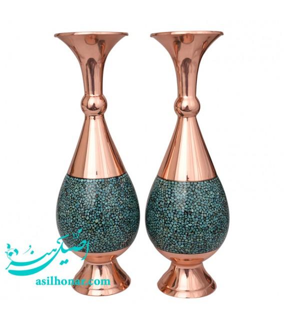 Turquoise inlaying flower vase