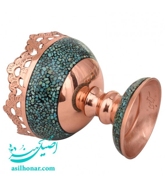 Turquoise inlaying nuts bowl