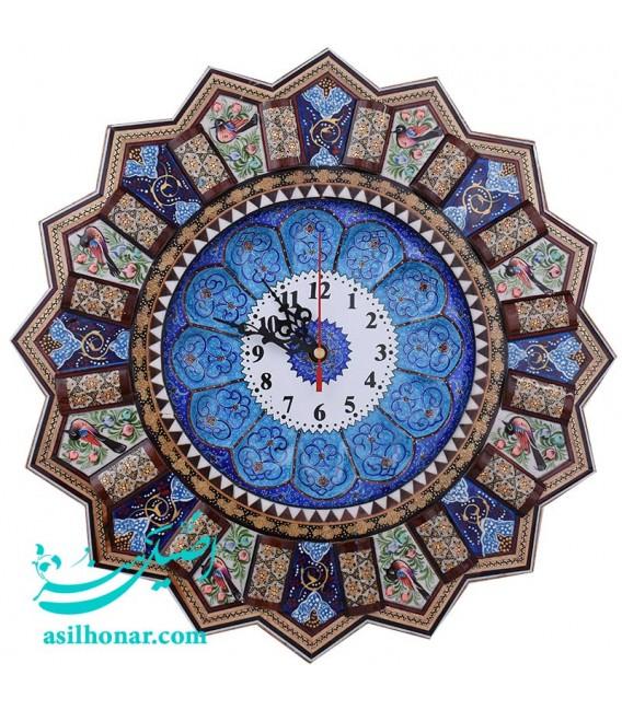 Khatamkari and minakari clock