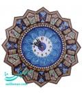 Khatamkari and minakari clock 37 cm