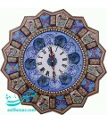 Khatamkari clock 42 cm with plat mina crescent