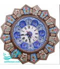 Khatamkari clock 47 cm with plat crescent