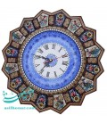 ساعت دیواری خاتم کاری 42سانتی با صفحه مینای قلی