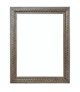 Khatamkari frame with double flowers 40x30